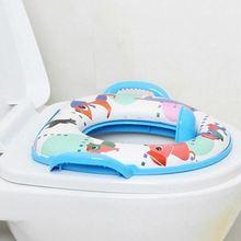 Экологически чистое мягкое сиденье для детского унитаза с ручкой WC Assistant Potty Toilet Pad для ребенка Новинка