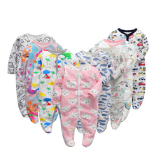 3/4/5/6 ชิ้น/เซ็ตผ้าฝ้ายเด็กทารก Rompers เสื้อผ้าเด็กแรกเกิดแขนยาว roupas infantis menino overalls