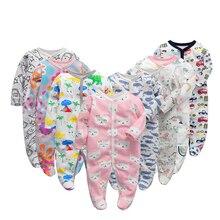 Macacão para bebês de 3/4/5/6 pçs/set algodão, roupas para meninas recém nascidas de manga longa, macacão infantil macacão,