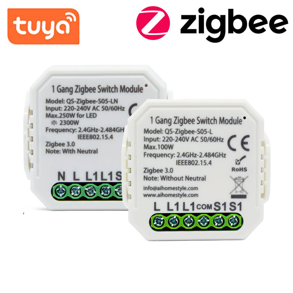 Tuya Zigbee модуль автоматического включения света Беспроводной светильник реле совместимый с Alexa Google Home