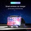 Новый умный автомобиль Беспроводной Зарядное устройство мобильный телефон держатель открываются автоматически закрывается и т. д. инфракр...