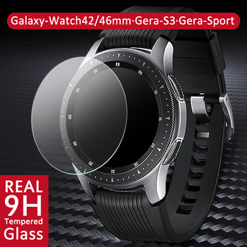 Tempered Glass Screen Protector for Samsung Galaxy Watch 46mm 42mm Protective Screen Guard Film for Gear S3 Sport Watch Upgraded 2pcs pack tempered glass screen protector watch screen protective films for samsung galaxy watch 42 46mm