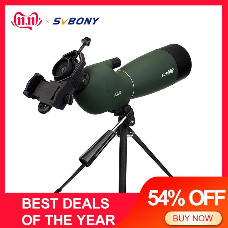 Svbony SV28 50/60/70mm longue-vue Zoom télescope étanche montre à oiseaux chasse monoculaire et universel adaptateur de téléphone optique pour la chasse, le tir, le tir à l'arc, l'observation des oiseaux