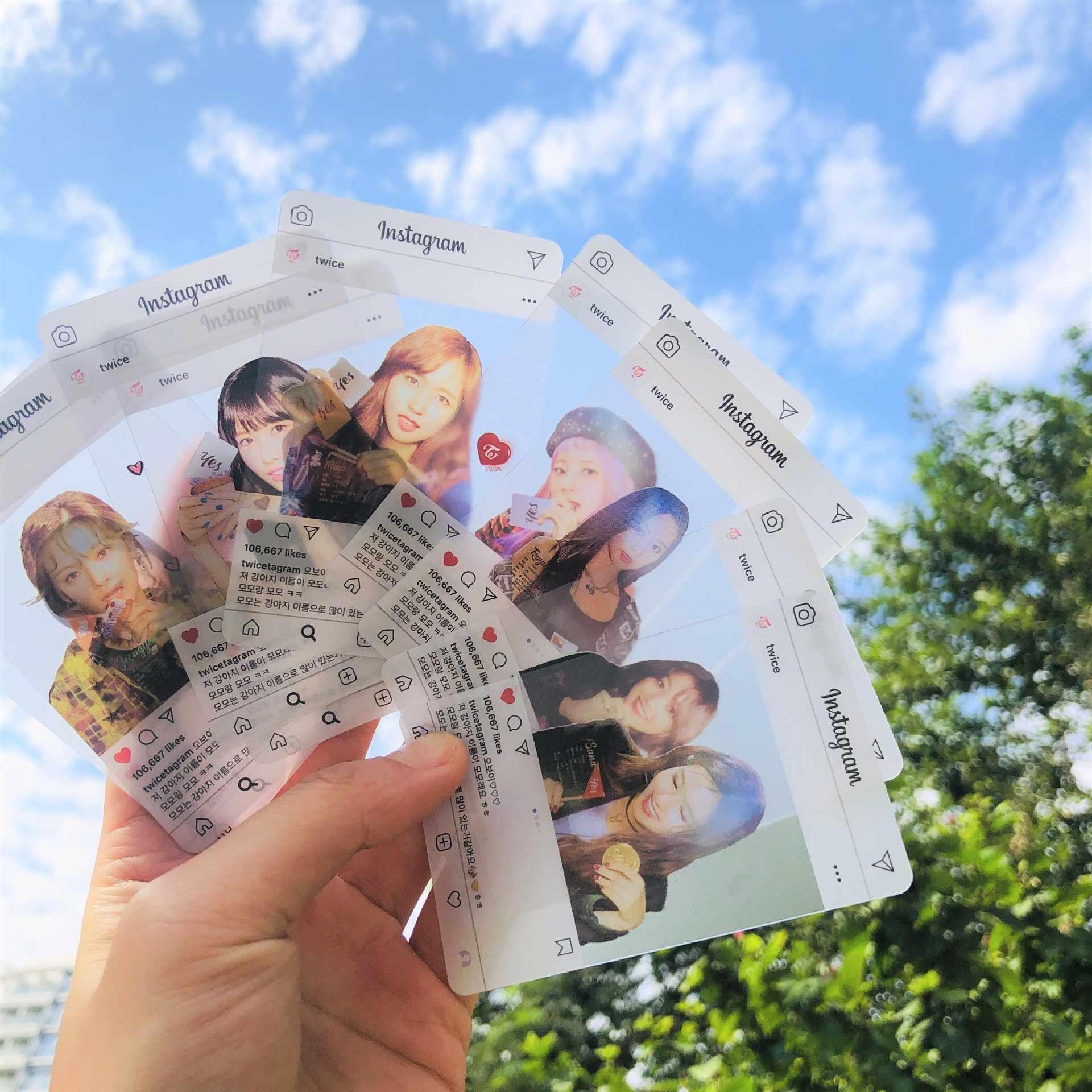9 Cái/bộ Kpop Hai Lần Ins Trong Suốt Photocard Hàng Mới Về Chất Lượng Tốt Thẻ Hình Ảnh Hai Lần Kpop Tiếp Liệu Whloesale Giá