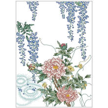 Wisteria flowers (2) patterns counted cross stitch 11ct 14ct