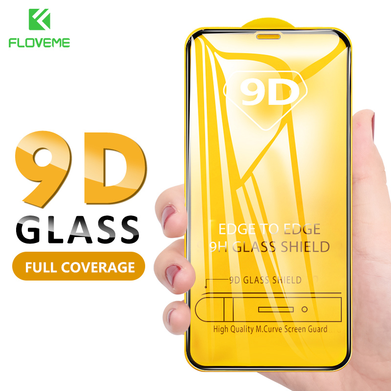 FLOVEME Tempered Glass For IPhone 11 Pro Max XS XR X 8 7 6 6S Plus 5 5S SE Glass Screen Protector For IPhone 11 Protective Film