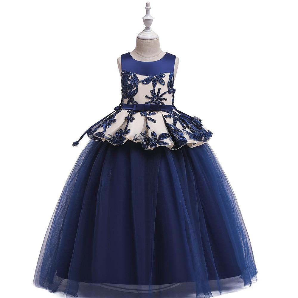 2019 Europe And America Girls' Long Skirt Big Boy Catwalks Princess Dress Gauze Puffy Princess Piano Performance Dress
