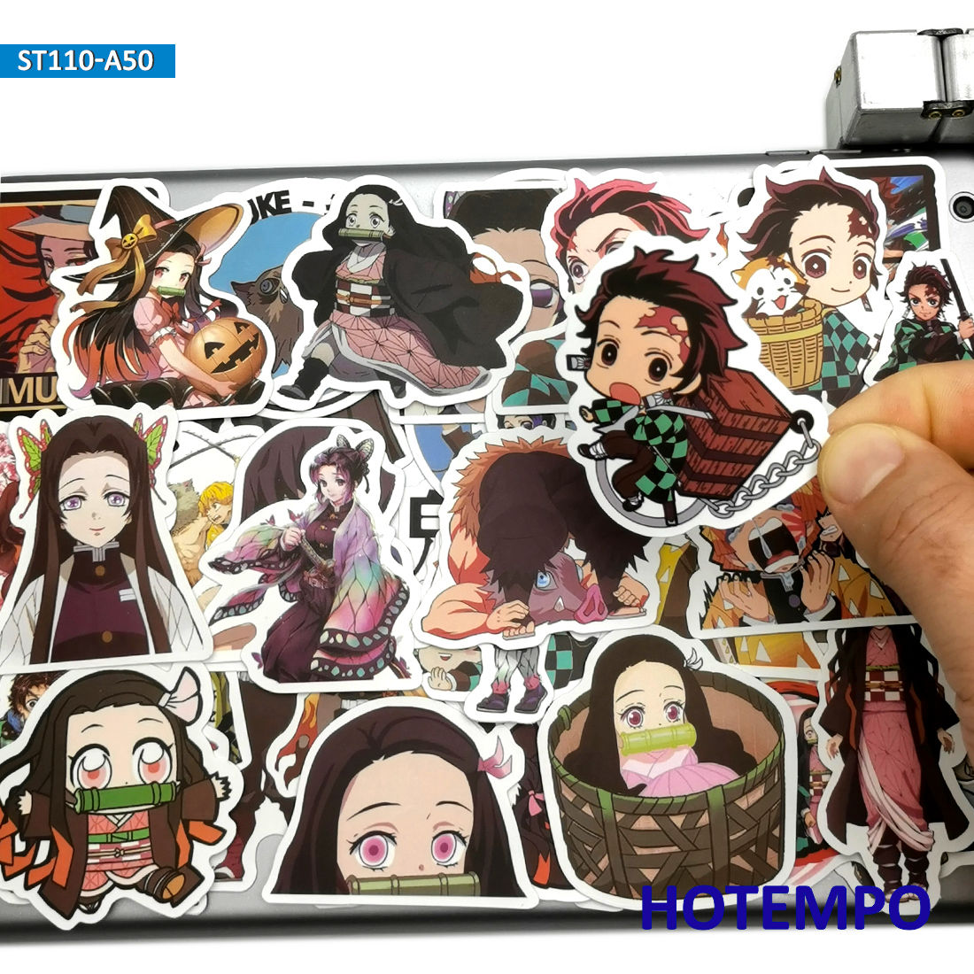50pcs Demon Slayer Kimetsu No Yaiba Anime Cute Stickers Toys For Mobile Phone Laptop Suitcase Skateboard Cartoon Decal Stickers