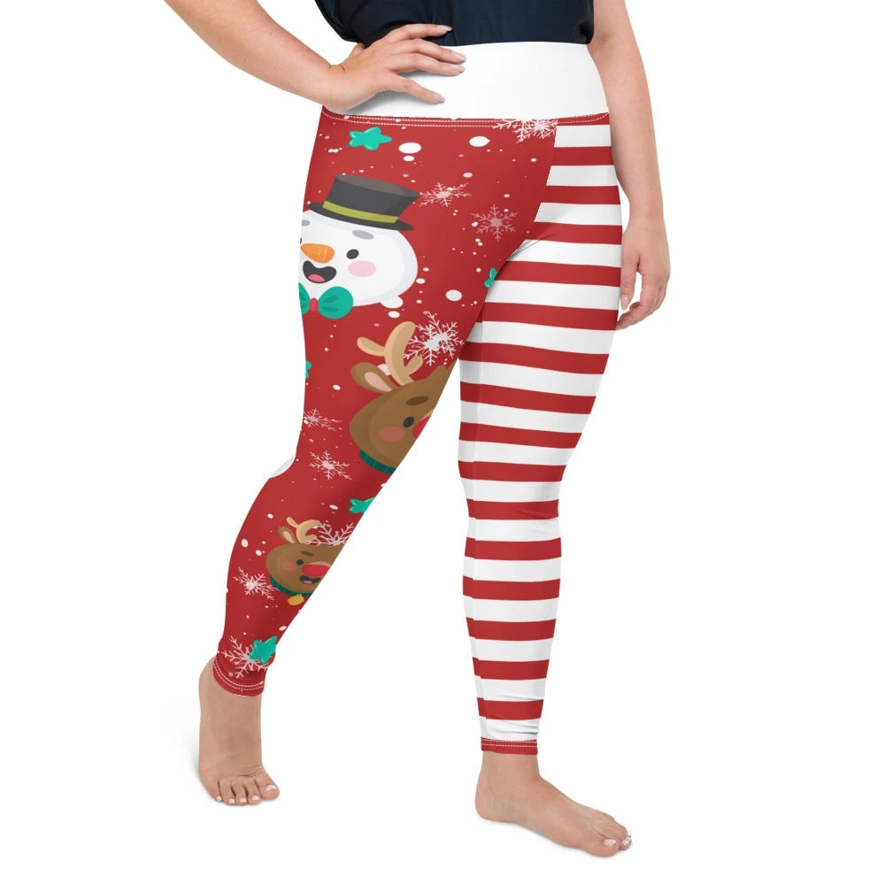 5XL Plus Size Christmas Leggings Women Fitness Legins High Waist Sexy Jeggings Elk Print Skinny Pants Workout Stretch Leggings|Leggings| - AliExpress