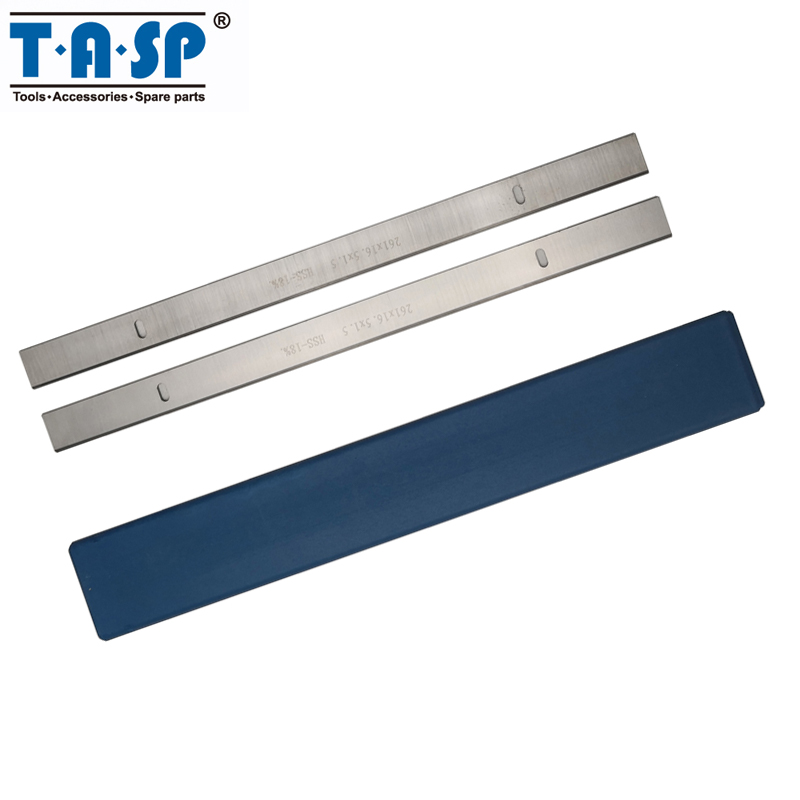 TASP 261mm HSS Thickness Planer Blade 261x16.5x1.5mm Wood Planner Knife Woodworking Tools For Scheppach HMS1070 & JET JPT-10B