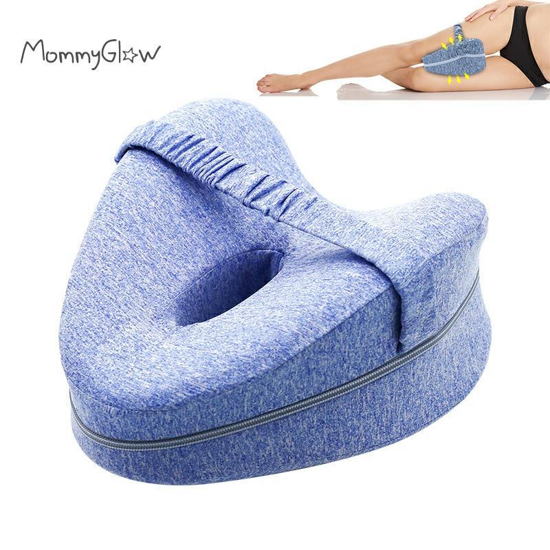 Memory Foam Leg Positioner Orthopedic Pillow Side Sleeper Knee Cushion Washable Relief Back Hips Pain Leg Pillow For Pregnant