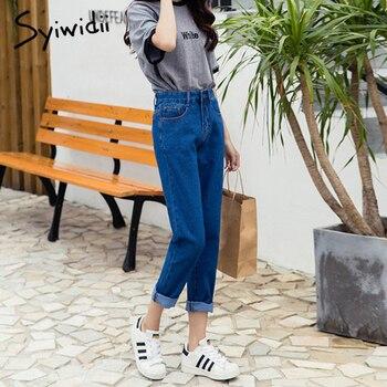 Cotton high waist jeans blue plus size boyfriend jeans for women Harem Pants 5xl street style korean fashion 2020 new 6