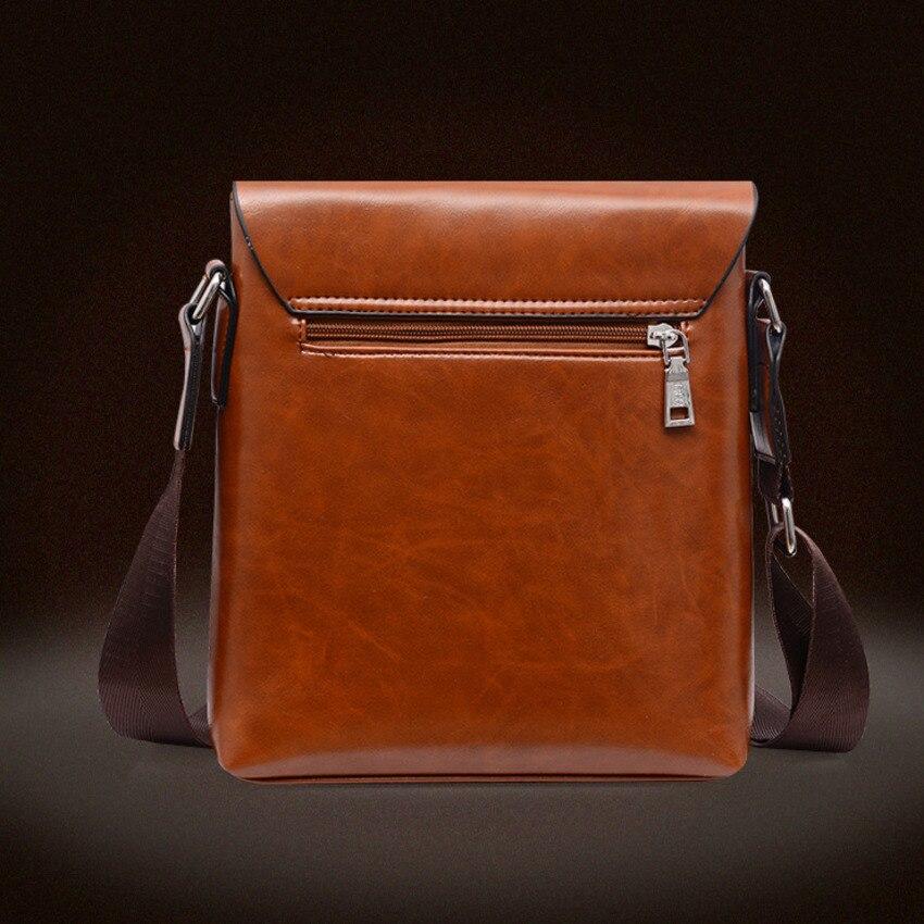Image 2 - OYIXINGER Men Messenger Bags Satchel Bag Soft Leather Middle aged Man Single Shoulder Practical Work Bag For IPad Tablet PC BagsBriefcases   -
