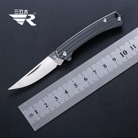 Sanrenmu  4112 Folding Pocket Mini Knife Fruit Knife for Camping Outdoor Travel and Survival