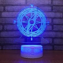 Направляющий корабль rudder7 цветная лампа 3d Визуальный светодиодный ночной Светильник s для детей сенсорный Usb Настольный светильник Lampara Lampe детский спальный светильник