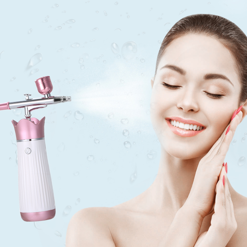 Wireless Handheld Nano Oxygen Injecting Apparatus Portable Beauty Instrument Facial Water Replenishing High Pressure Sprayer