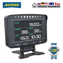 AUTOOL X50 PRO OBDII HUD OBD Head Upจอแสดงผลรถความเร็วเมตรเครื่องสแกนเนอร์Multi Functionรถยนต์Speedometerพร้อมFaultการวินิจฉัย
