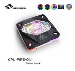 Bykski CPU Water Block use for INTEL LGA1150/1151/1155/1156 2011 X99 / A-RGB AURA Light / Block with OLED Temperature Display