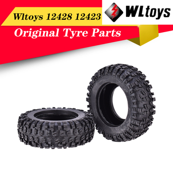 Original Rubber RC Car Wheels Tires for Wltoys 12428 12423 1/12 RC Car Right Wheel Tyre RC Car Accessory