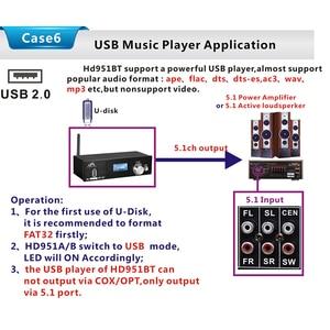 Image 5 - HD915 HDMI 5.1CH o Decoder Bluetooth 5.0 Reciever DAC DTS AC3 FLAC APE 4Kx2K HDMI to HDMI Extractor Converter SPDIF ARC(EU P