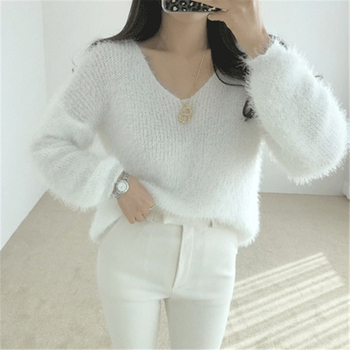 Ailegogo New 2019 Autumn Winter Women's Sweaters Loose Casual Fashionable Minimalist Tops Korean Style Knitting Ladies SW9160 4