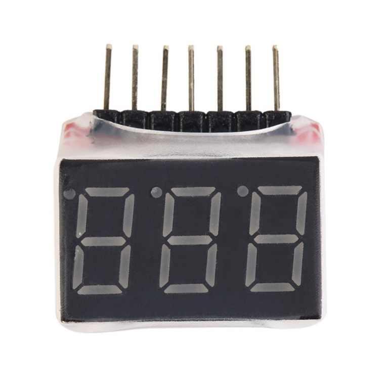 배터리 테스터 1-6s rc 1 s-6 s led 저전압 버저 알람 lipo 배터리 전압 표시기 검사기 테스터 테스트 2.8 v-25.2 v