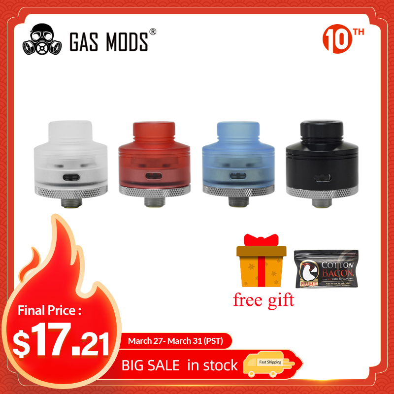 In Stock!! Original Gas Mods GR1 S RDA 22mm Single Coil Atomizer With Adjustable Side Airflow & BF Squonk Pin E-cig Box Mod