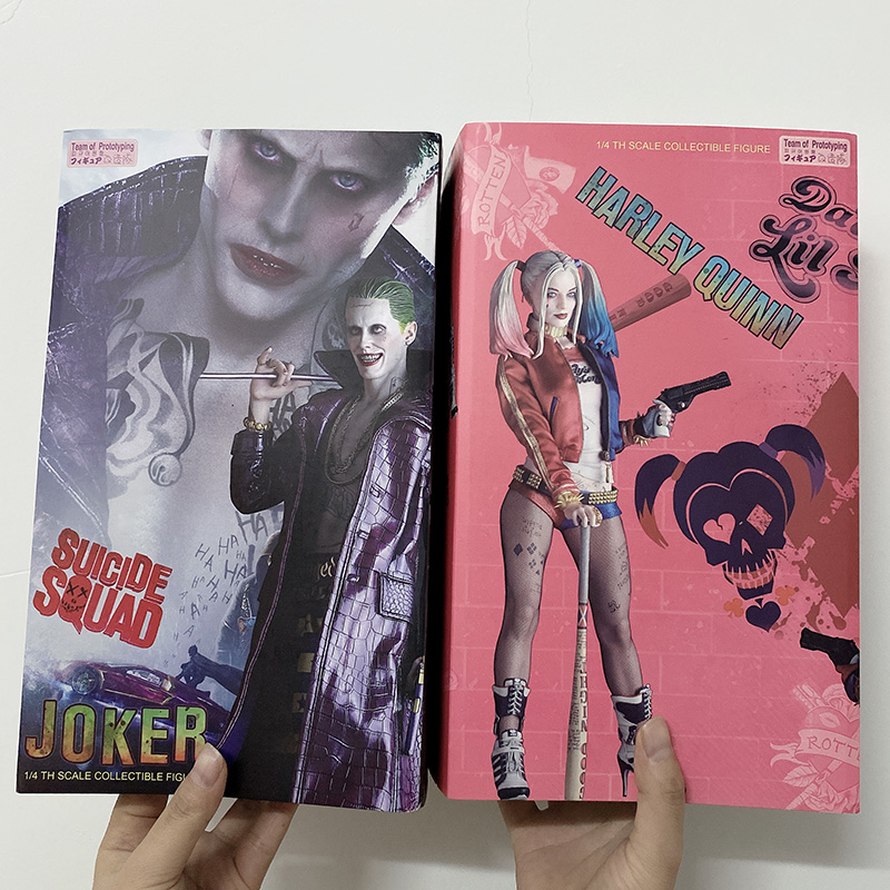 Crazy Toys <font><b>Figure</b></font> Suicide Squad The Joker Action <font><b>Figure</b></font> <font><b>1/4</b></font> scale Painted <font><b>Figure</b></font> The Quinn <font><b>Figures</b></font> Team Of Prototyping Doll image