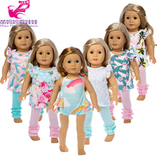 цена 18 inch american Doll clothes set for born Baby Doll pants clothes 18