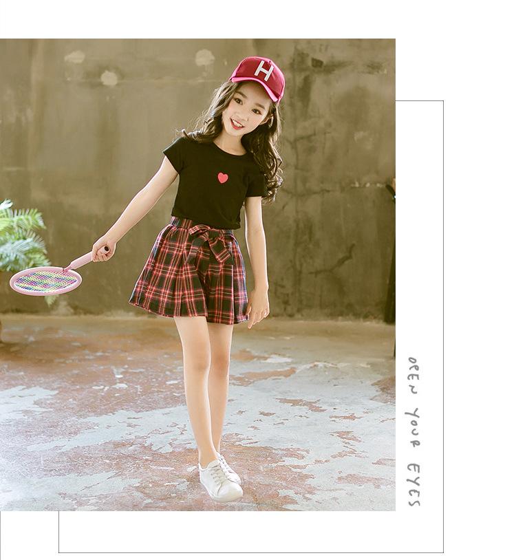 Комплект одежды для девочек новинка 2020 стильный летний детский
