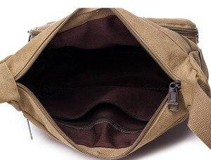 Image 5 - Холщовая Сумка через плечо, вместительный мессенджер с несколькими карманами, крутая Повседневная дорожная и школьная Сумочка на плечо