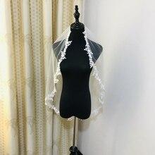Real Photos Wedding Veil Bridal Veil One Layers Lace Veil White/Ivory Bride Wedding Accessories Veils