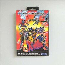 X Mens   EUR כיסוי עם תיבת 16 קצת MD משחק כרטיס עבור Megadrive בראשית וידאו קונסולת משחקים