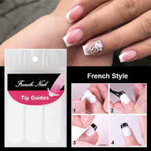 цена на Nails Guide Tips Stickers French Style Smile Nail Stickers Manicure Strip Nail Art Form Finger Tip Guide Sticker Line Decals