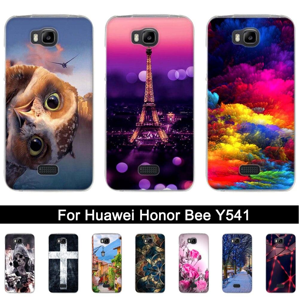 Coque arrière pour Huawei Y5C housse en TPU pour Huawei Honor Bee étuis pour téléphone pour Huawei Y541 Y5C Honor Bee y541 y541 u02 coques en Silicone |