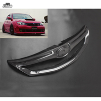 OEM style real carbon fiber front bumper grille For Subaru Impreza 10th 2.0R 2.5T WRX STI 2007 2008 2009 2010 CF styling grill