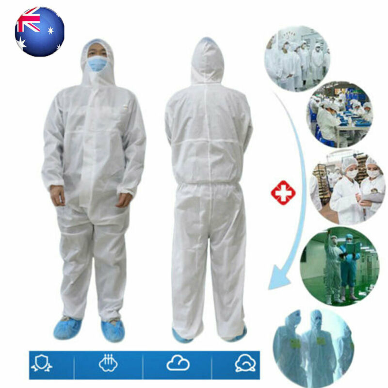 2020 Disposable Protective Suit Safety Clothing Anti Bacteria Droplet Safety Clothing Surgical Medical Protective Overall Suit