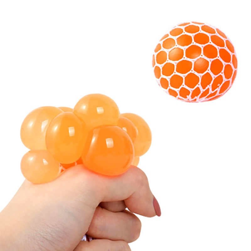 2020 Stress Relief Grape Ball Funny Toys Grape Ball Autism Mood Squeeze Toys For Stress Fun Creative Gifts Random Colors