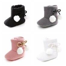 Новинка; Осенняя обувь для новорожденных; обувь для маленьких девочек и мальчиков; милые вязаные ботинки в горошек; повседневные кроссовки на нескользящей мягкой подошве; прогулочная обувь