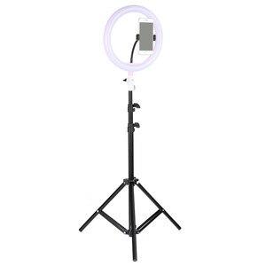"""Image 3 - Tycipy 10 """"lampa pierścieniowa do aparatu do fotografii studyjnej makijaż lampa pierścieniowa telefon wideo lampa na żywo ze statywem do smartfona Canon Nikon"""