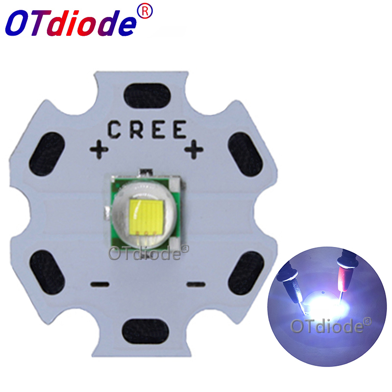 1-10PCS CREE XML XM-L T6 LED U2 10W Cold White 10000K High Power LED Emitter Diode With 14mm 16mm 20mm 25mm PCB For DIY