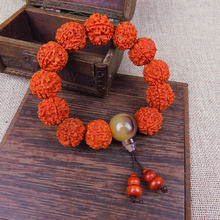 20MM Man Tuba Nepal Five-petal Rudraksha Bracelet Exclusive Design Chinoiserie Hot Selling Buddha Bead Bracelet A Direct Sale(China)