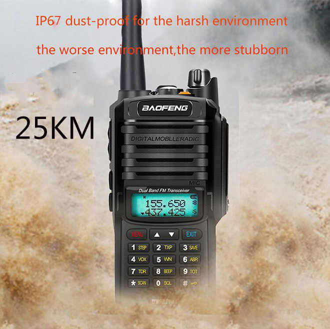 2020 Upgrade uv9r Baofeng UV-9R plus 50km walkie talkie 10W 4800mah two way radio vhf uhf ham radio long range CB radio station