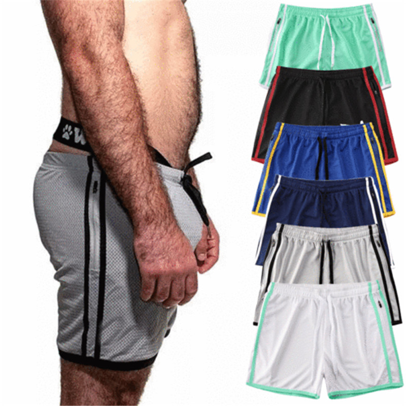 Gym Shorts Men Mesh Quick-dry Training Bodybuilding Casual Shorts Summer Workout Fitness Slim Solid Male Casual Shorts Mujer