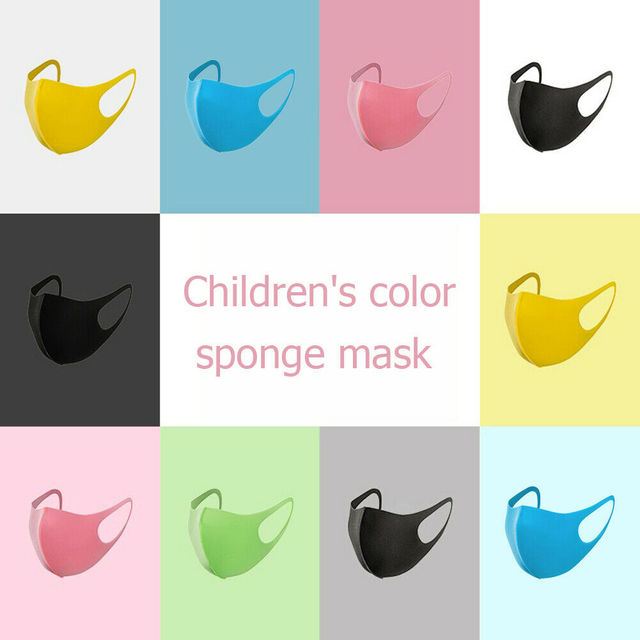 Children Protective Mask Reusable Anti-Dust Haze Flu Face Mask Kids Washable Mouth Mask Respirator Solid Dustproof Masks D30 4