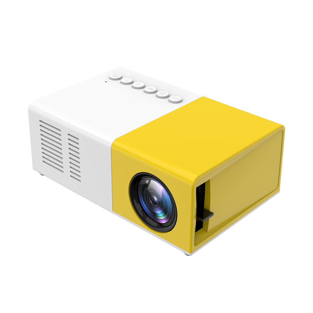 Mini Portable Home Cinema LED Video Projector LCD Home Theater Overhead Projector Support 1080p AV, USB, SD Card - EU Plug