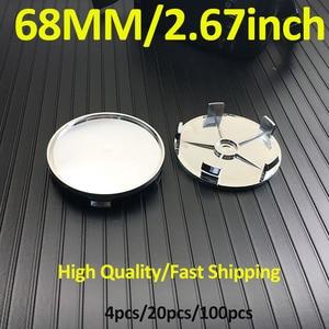 Оптовая продажа колпачок ступицы колеса покрывает хром 68 мм 6,8 см 2,67