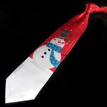 Creative Santa Claus Printed Tie Adult Men Women Accessories Christmas