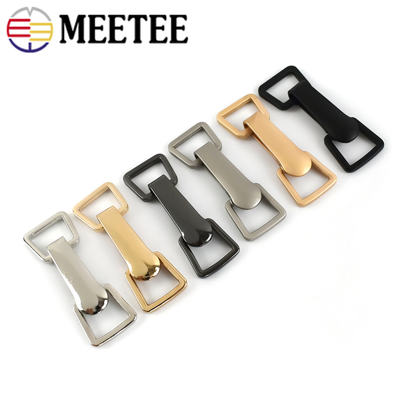 2/4sets Meetee 18*73cm Metal Buttons Garment Hook Buckles Apparel Belt Decor DIY Sewing Clothing Down Coat Supply Accessory