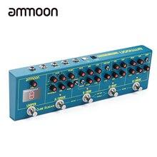 Ammoon cubo açúcar guitarra efeito pedais distorção overdrive chorus fuzz flanger atraso reverb efeitos pedal guitarra acessórios